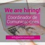 Buscamos Coordinador de Comunicaciones